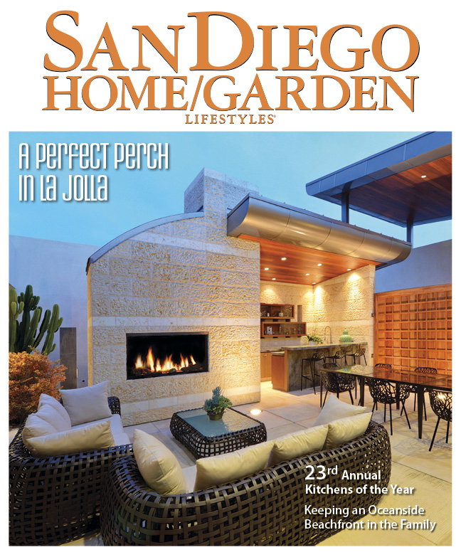 Media editorial magazine article cast glass images for The home mag san diego